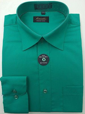 New amanti mens solid emerald green wedding formal dress Emerald green mens dress shirt