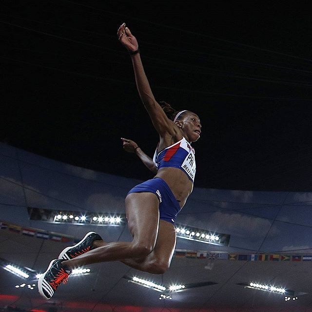 Shara Proctor smashed her own #British #record with a #longjump of 7.07m, becoming the #first #Briton to jump over seven metres. #Beijing2015