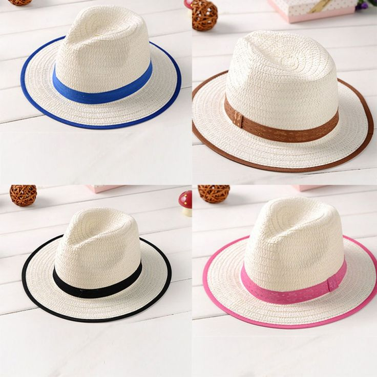 >> Click to Buy << Summer Kid Fedora Straw Brim Cap Sun Jazz Hat Hats Boys Girls Beach Cap #Affiliate