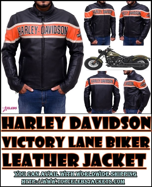 Harley Davidson Victory Lane Leather Jacket (With images