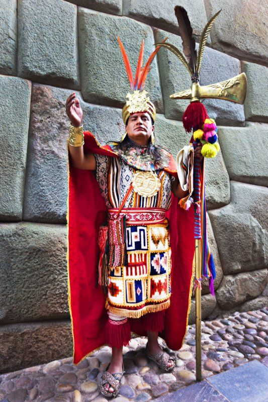 Inca Chief  Cusco, Peru.....These stone walls everywhere are such an AMAZING engineering feat!  Can't imagine how they built them.  Incredible!!  ...Pat