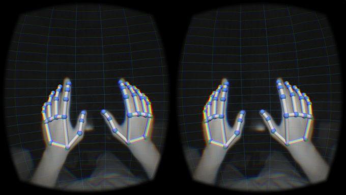 Leap Motion AR overlay