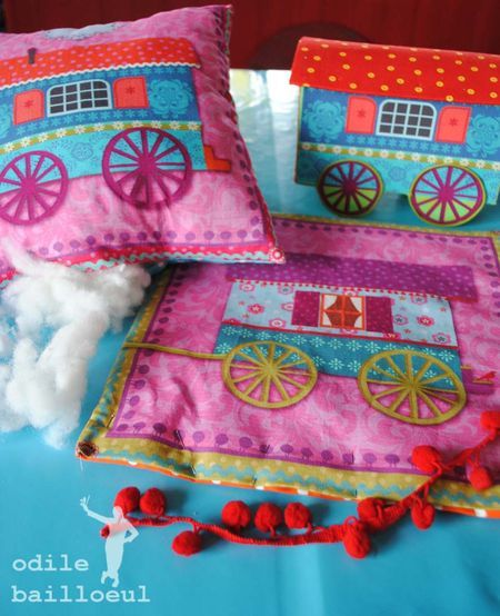 www.odilebailloeul.com: Jolies Choses, Pretty Thing, Coussins Gipsy, Petite Coussin, Coussin Gipsy, Les Jolies, Petits Coussins