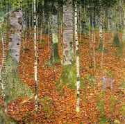 Birch Forest  by Gustav Klimt