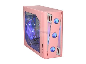APEVIA X-CRUISER2-PK Pink SECC Steel ATX Mid Tower Computer Case. My ...