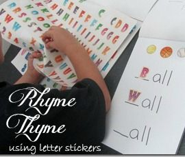 Dr Suess inspired Rhyme Time activity for kids #kids #activity #drsuess