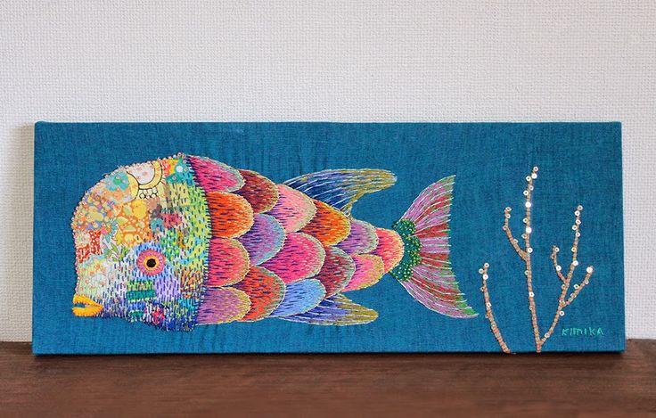 beautiful embroidery by kimika hara