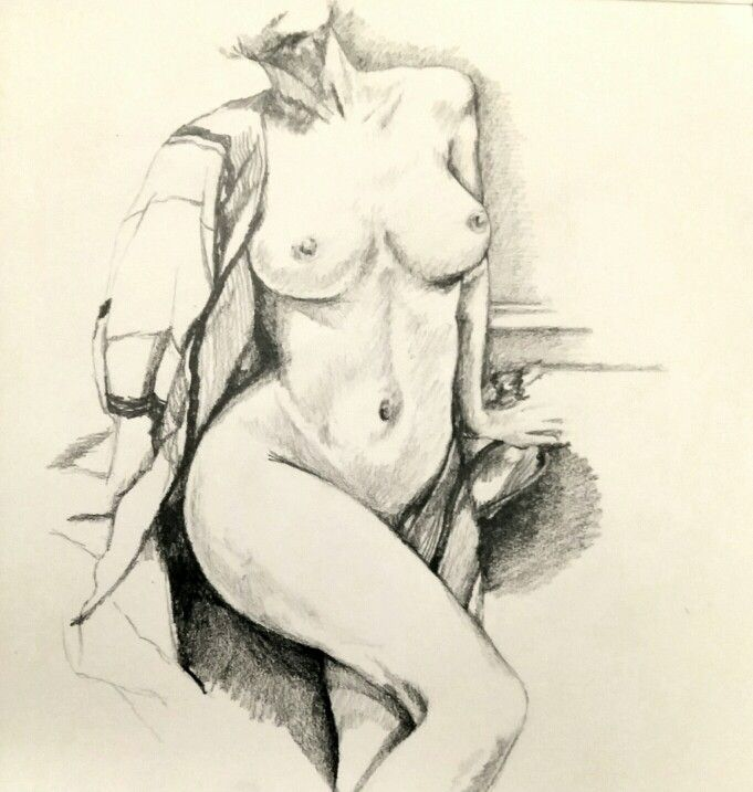 Nude pencil sketch.