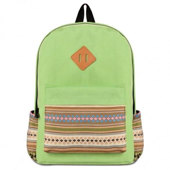 Fashion Korean Casual Canvas Hiking Shoulder Bag Backpack Rucksack School Satchel Book Bag