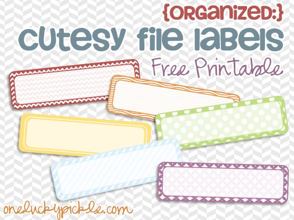 Stay Organized Cuuuute Labels Free Printable