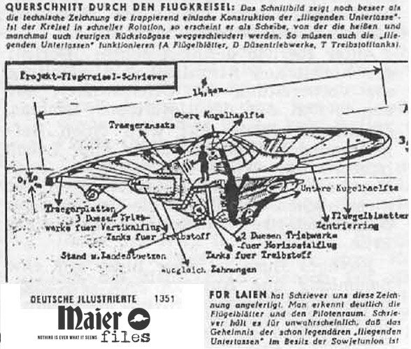 Flugkreisel by Schriever http://the.maier-files.com/flying-saucer-invented-in-germany/