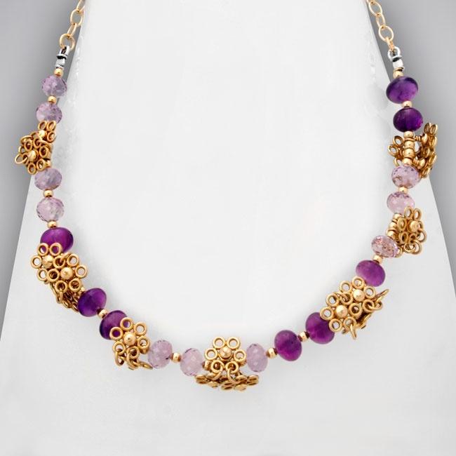 Pink & Purple Amethyst Necklace