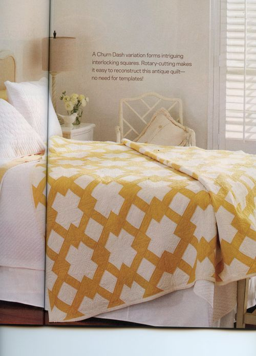 "Image of the ""Butter Churn"" quilt from the February 2013 issue of American Patchwork & Quilting."