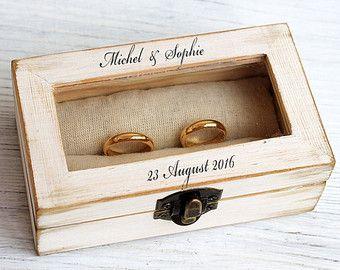 Elige tu color Caja de joyería rústica. Anillo caja de por ArtDidi