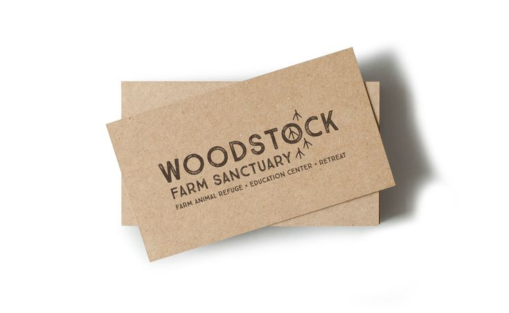 Woodstock Farm Sanctuary Kraft Business Card Design
