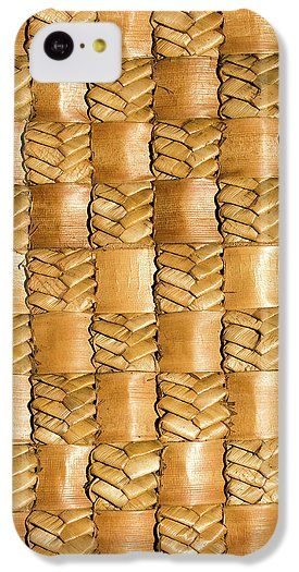 Flax IPhone 5c Case featuring the photograph Weaving Flax - Gold by Wairua o te Moana