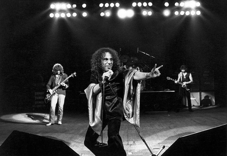 RIP Ronnie James Dio, here on stage with Black Sabbath in the 80s.  One of his greatest musical collaborations was with these great rock stars.
