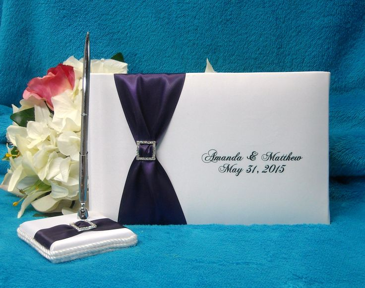 Add your personalized touch to this great guest book, with your choice of ribbon colour and 2 lines of print great for any event.