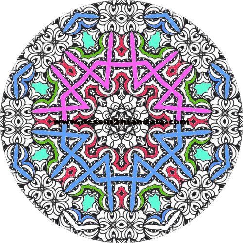 coloriage de mandala a imprimer numero 22 #mandala #coloriage #adulte via dessin2mandala.com