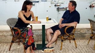 2015 Summer holiday. David Cameron and his wife Samantha in Alvor, Portugal. A pretty Portuguese fishing village known for its narrow cobbled streets and secluded coves.