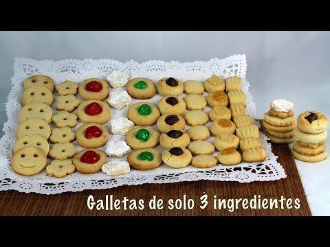 Galletas de 3 ingredientes faciles y rapidas - YouTube
