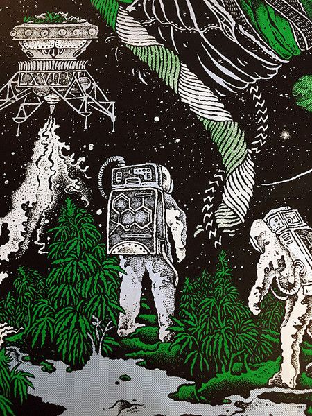 Sleep (Al Cisneros, Matt Pike, Roeder) artwork by David V. D'Andrea 5 color screen print by Monolith Press Artist edition of 200 Signed and numbered