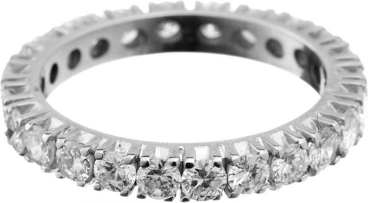 Diamant-Alliance-Ring Weissgold 750. Mit 24 Brillanten von zusammen ca. 1.75 ct. Ringgrösse 54. 3.5 — Schmuck