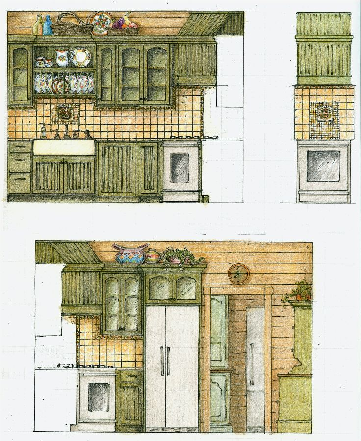 Architectural Elevations - Interior - Moscow
