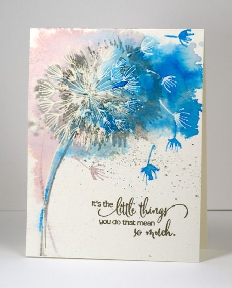 "The One Layer Simplicity challenge this month is ""Blowin' in the Wind"". Karen is challenging us to show wind on our cards.  She suggests using a straw to blow paint dropped onto your paper, stamp a..."