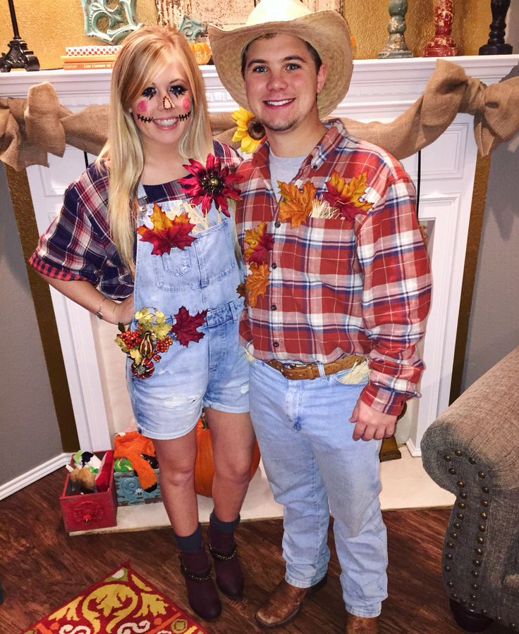 easy DIY Halloween scarecrow couples costume!!