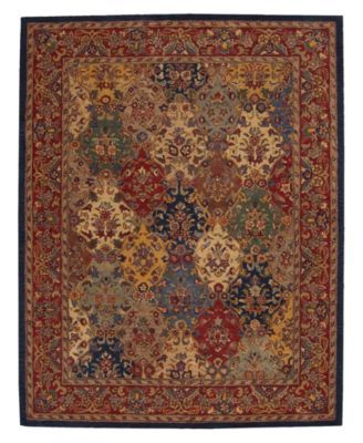 Nourison Area Rug, India House IH23 Panel Multi Color 5' x 8'