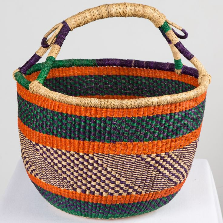 Asungtaba market basket. Asungtaba means helping each other succeed in Frafra language, spoken in the Northern region of Ghana This basket is great for the farmers market, storage and skeins of yarn. One can easily note the dedication and care with which the artisans weave the veta vera grass comprising the basket. Why not add Read the full article »