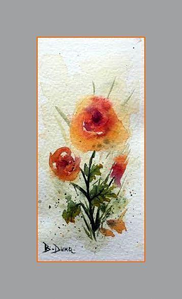 Poppies,  original painting by Berrin Duma
