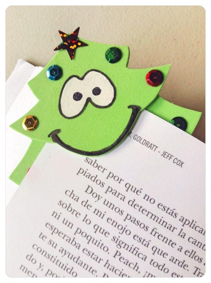 Marcalibros como lindos Regalos para Navidad | Aprender manualidades es facilisimo.com