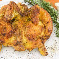 Poulet en crapaudine à l'ail et au romarin - Cuisine et Vins de France