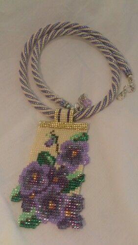 Violet Amulet  Design by Jill Oxton, made by Yolanta Olesinski