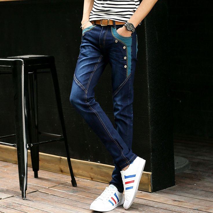 19.09$  Watch here - 2017 summer white red  jeans men denim straight jeans designer famous brand robins jeans mens plus  #buyonlinewebsite