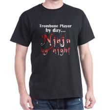 Trombone Ninja T-Shirt #marchingbandstuff #hornandcastle