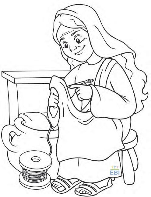 17 best dorcas images on pinterest school bible and for Dorcas in the bible coloring pages