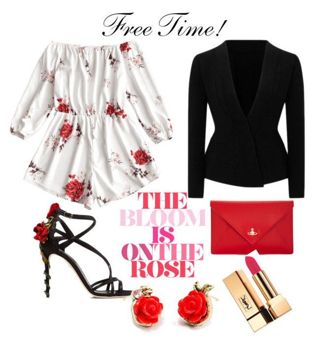 """""""Free time"""" by styles-bykim on Polyvore featuring Roland Mouret, Vivienne Westwood, Dolce&Gabbana and Yves Saint Laurent"""