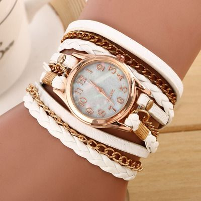 Vintage Leather Ladies Quartz Wristwatch // Price: $8.95 & FREE Shipping //  We accept PayPal and Credit Cards.    #dress
