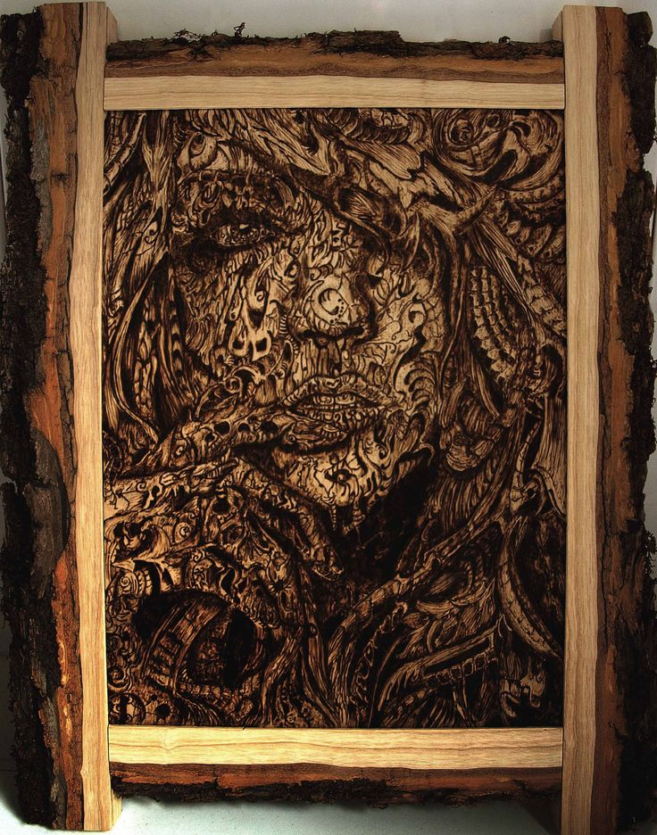 Pyrography 100% handmade,eco art