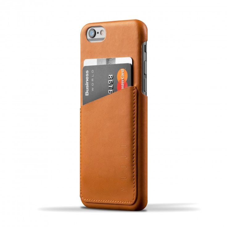 This iPhone 6 wallet case is very slim, just the right size to fit your iPhone 6 and some cards. This sleek package with a leather card slot on the back allows you to conveniently store 2-3 bank or ID / business cards and some cash for quick access.