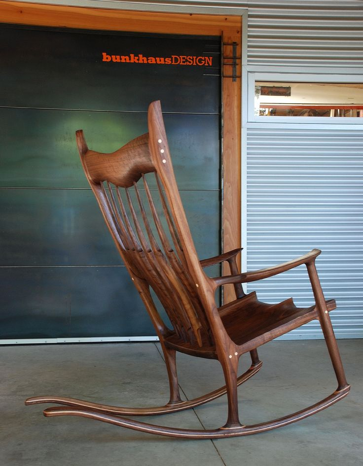 Rocking Chair. Hand sculpted.
