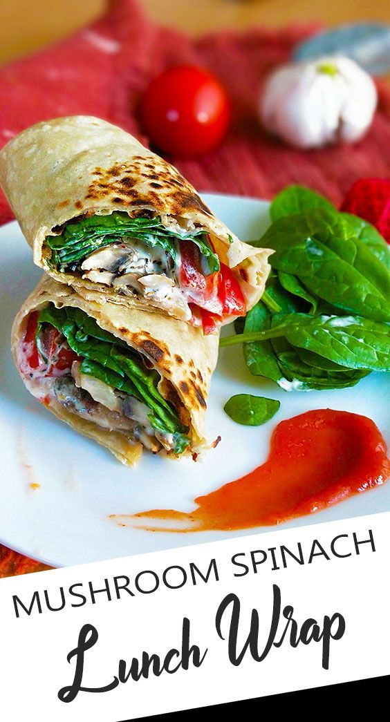 Wrap Ideen Pilz-spinat-wrap (vegane Lunch-wrap-ideen) In 2020 ...
