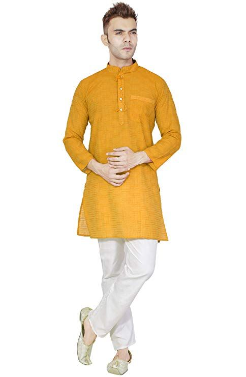 0c5ce10424c Amazon से ऑफर और डिस्काउंट Handmade Indian Kurta Pajama Traditional Long  Sleeve Cot Shirt Pyjama Dress Bollywood Clothing