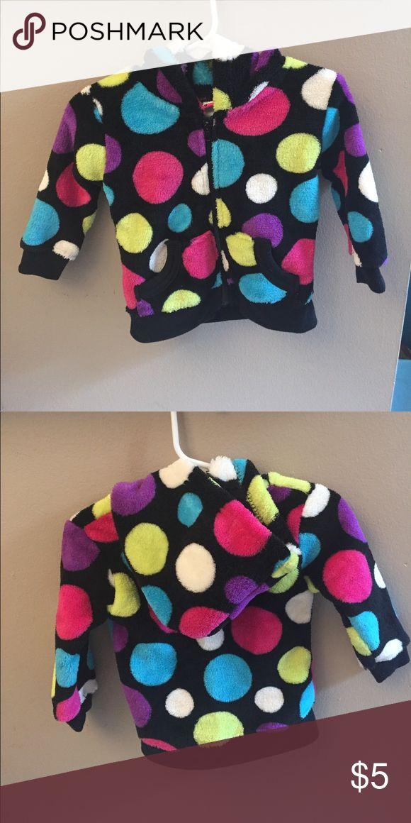 Girls Rule 18m Zip Up Hoodie Multi colored Polka Dots. Soft Polyester. Girls Rule Shirts & Tops Sweatshirts & Hoodies
