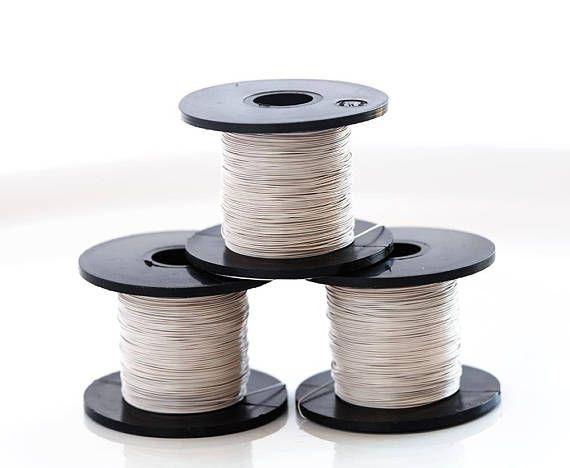 1628 Beige wire 28 gauge Thin jewelry wire 0.315mm Copper