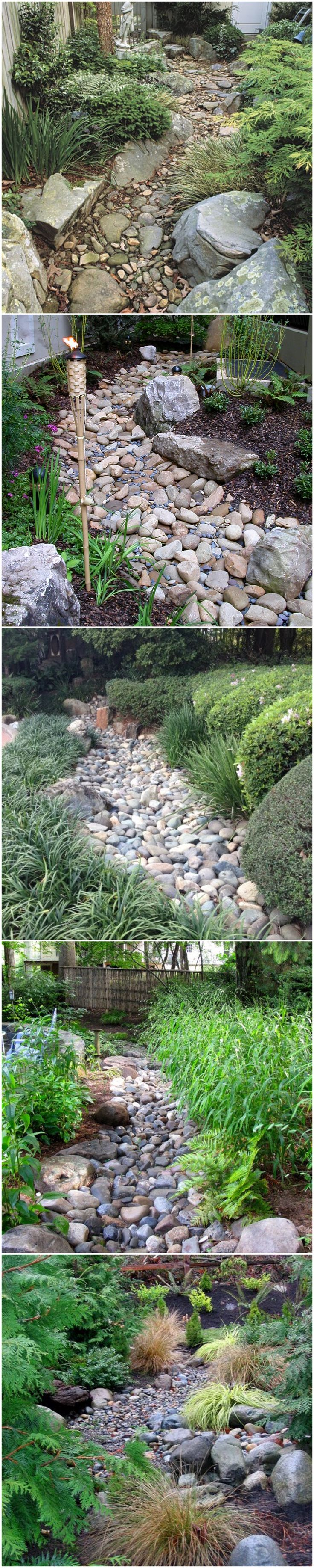 25 Gorgeous Dry Creek Bed Design Ideas. Fairies GardenGarden ArtGarden ...