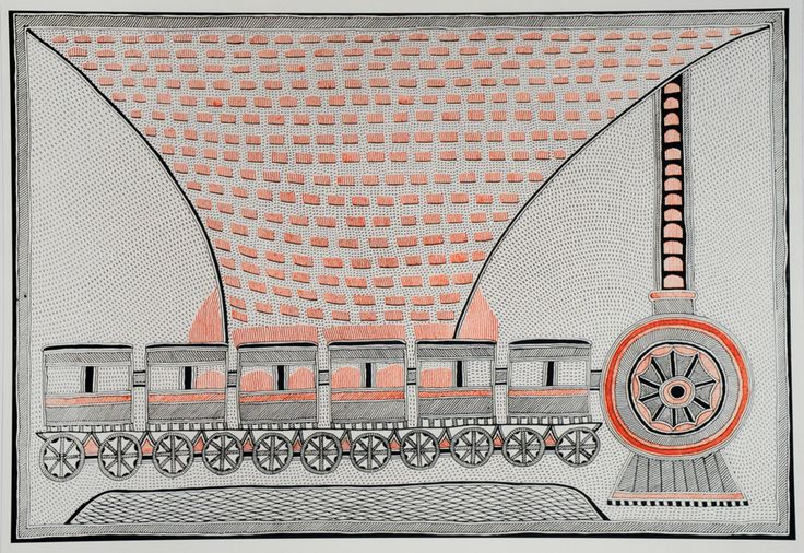 A Woman Burning in the Distance: Contemporary Mithila Art - 50 Watts